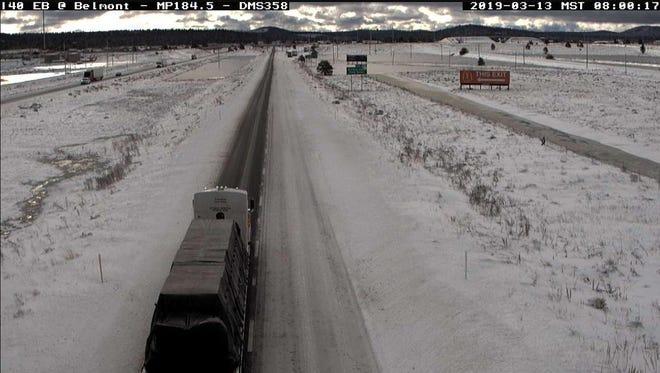 Icy roads in northern Arizona