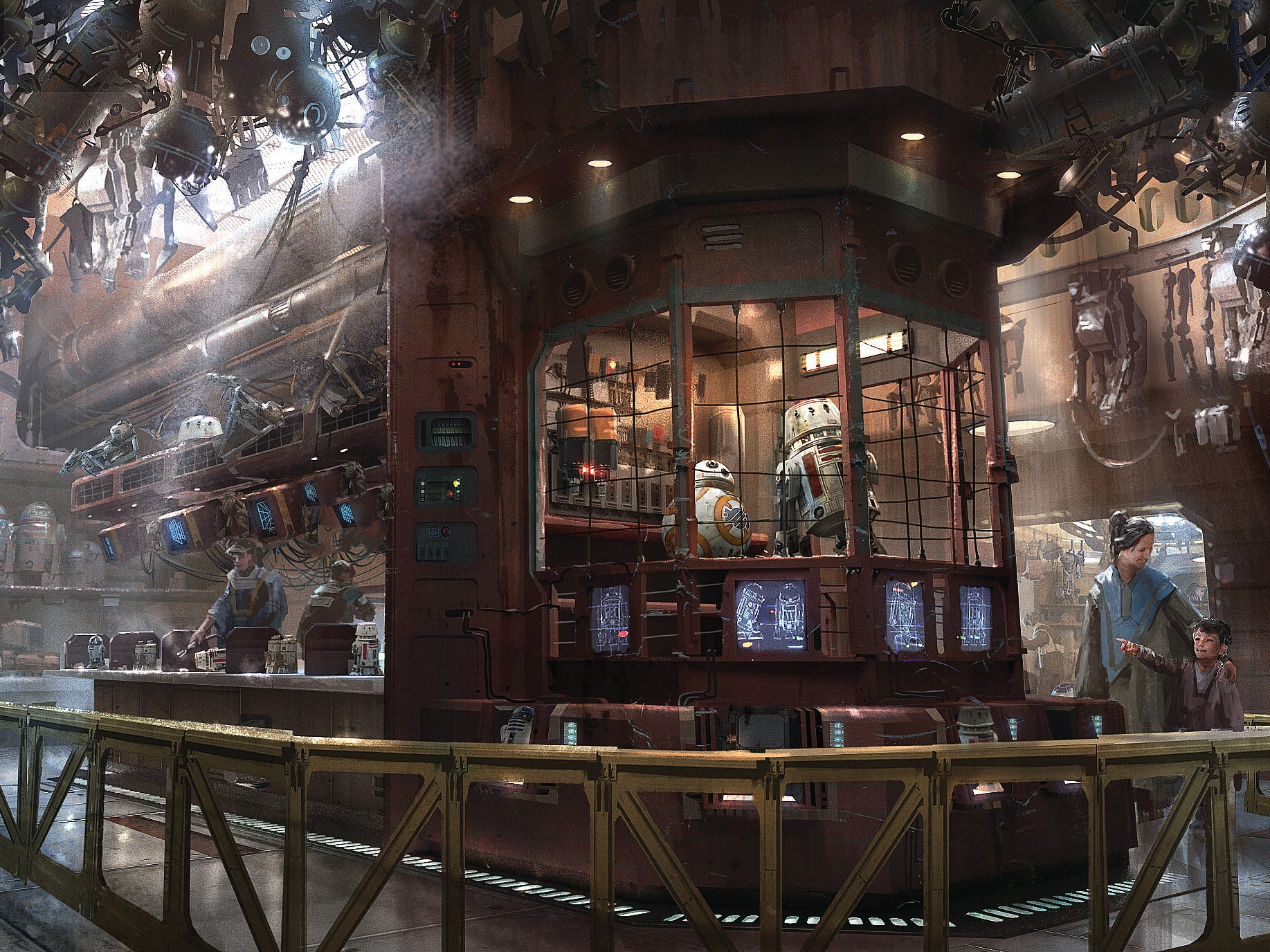 In the Droid Depot at Star Wars: Galaxy's Edge, guests will be able to build their own personal droids.