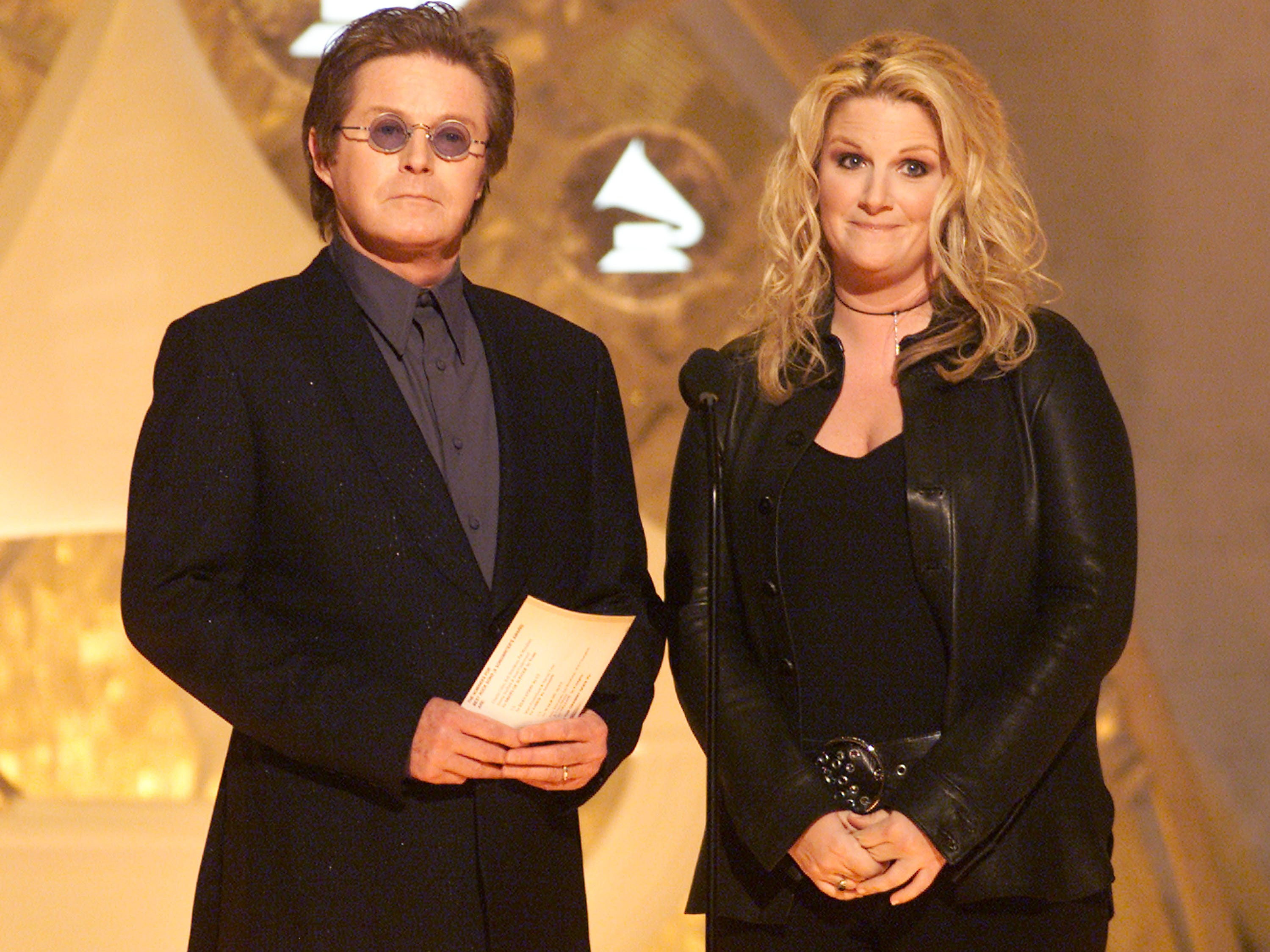 Don Henley and Trisha Yearwood at the 44th Annual Grammy Awards held at the Staples Center In Los Angeles, Ca. Feb. 27, 2002.