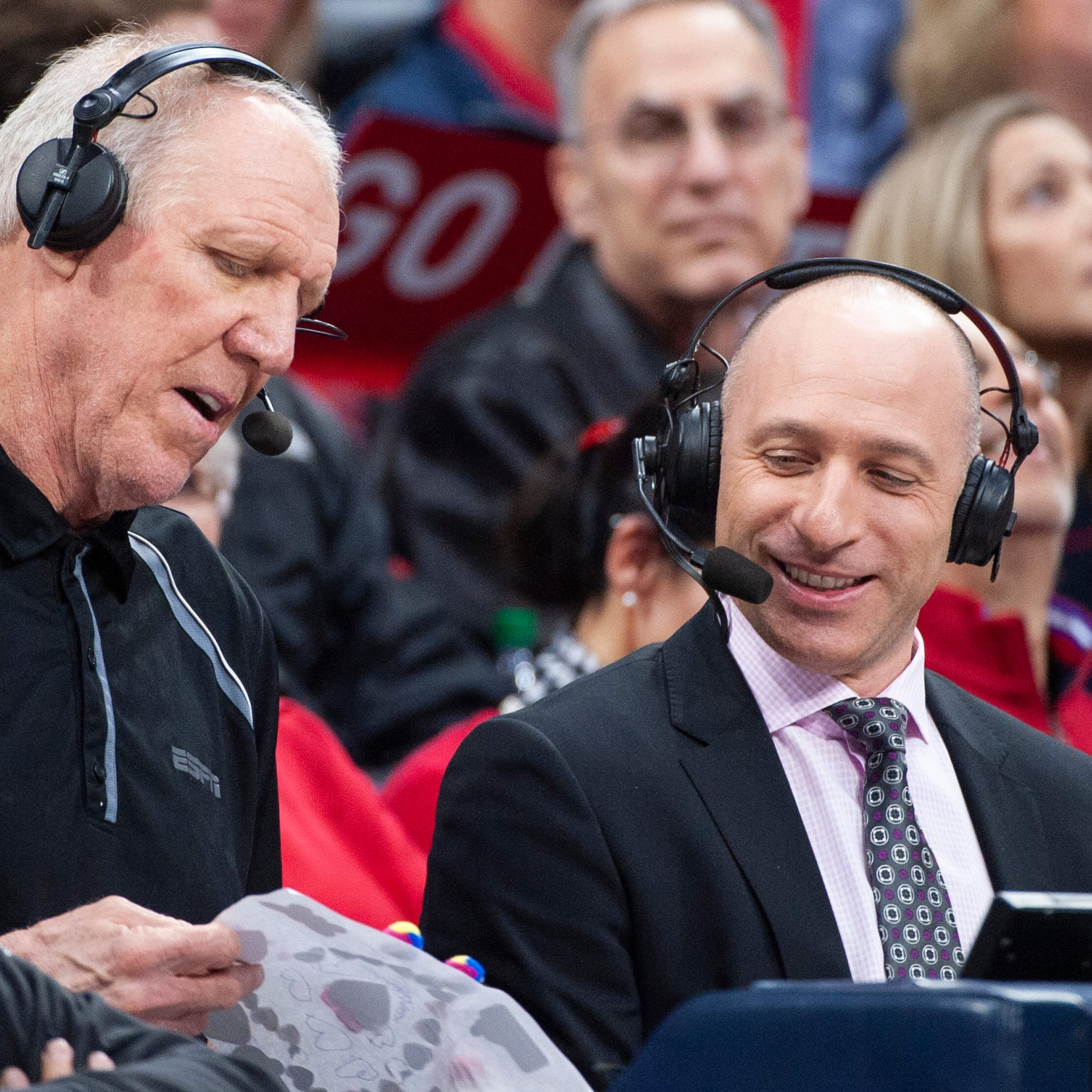 Broadcast of champions: Dave Pasch is a skillful foil for singular partners Bill Walton and Ron Wolfley