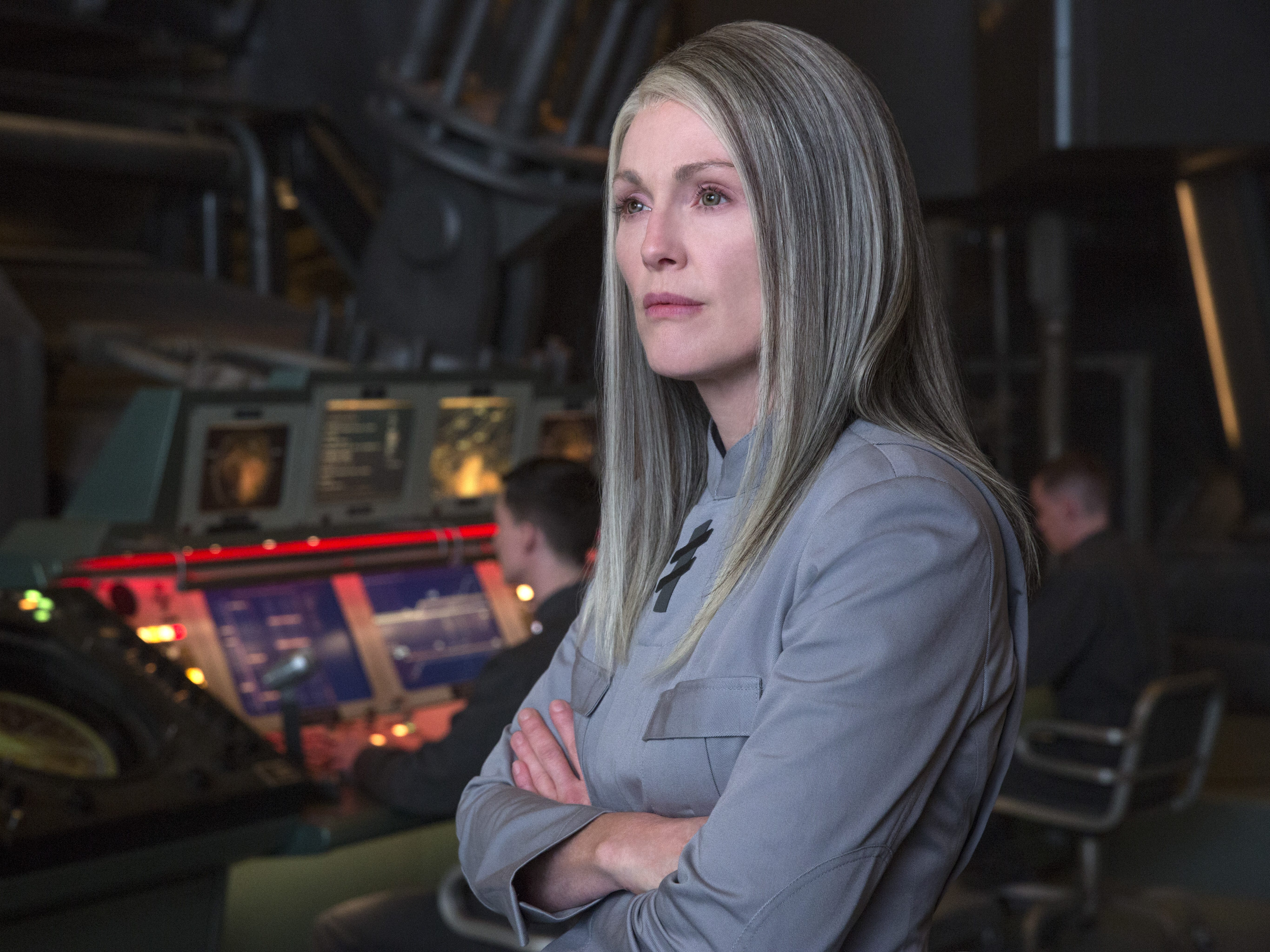 """Julianne Moore in """"The Hunger Games: Mockingjay."""""""