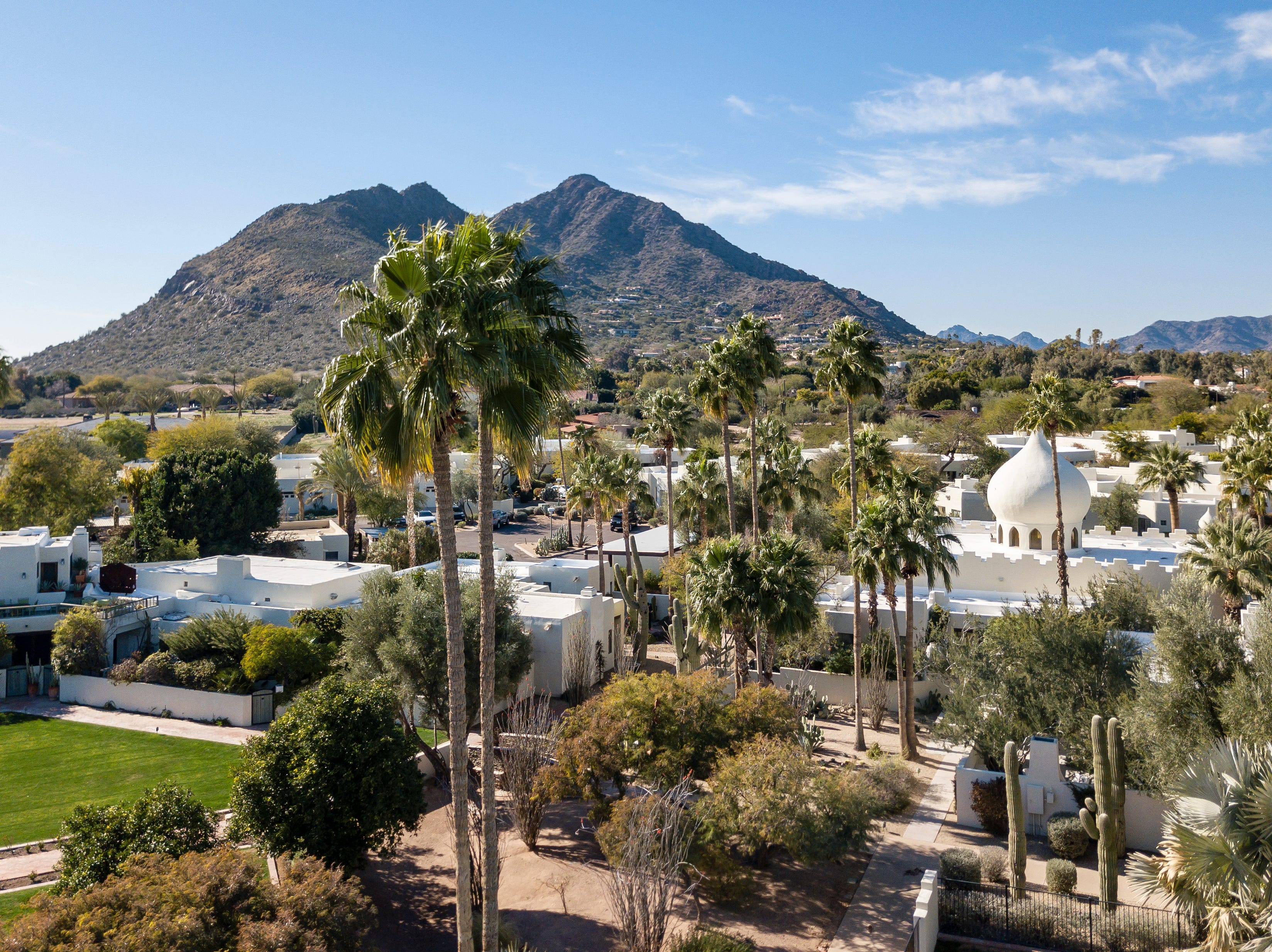"The two-bedroom, two-bathroom ""dome"" home in Paradise Valley's Casa Blanca neighborhood is up for sale with an asking price of $1.175 million."