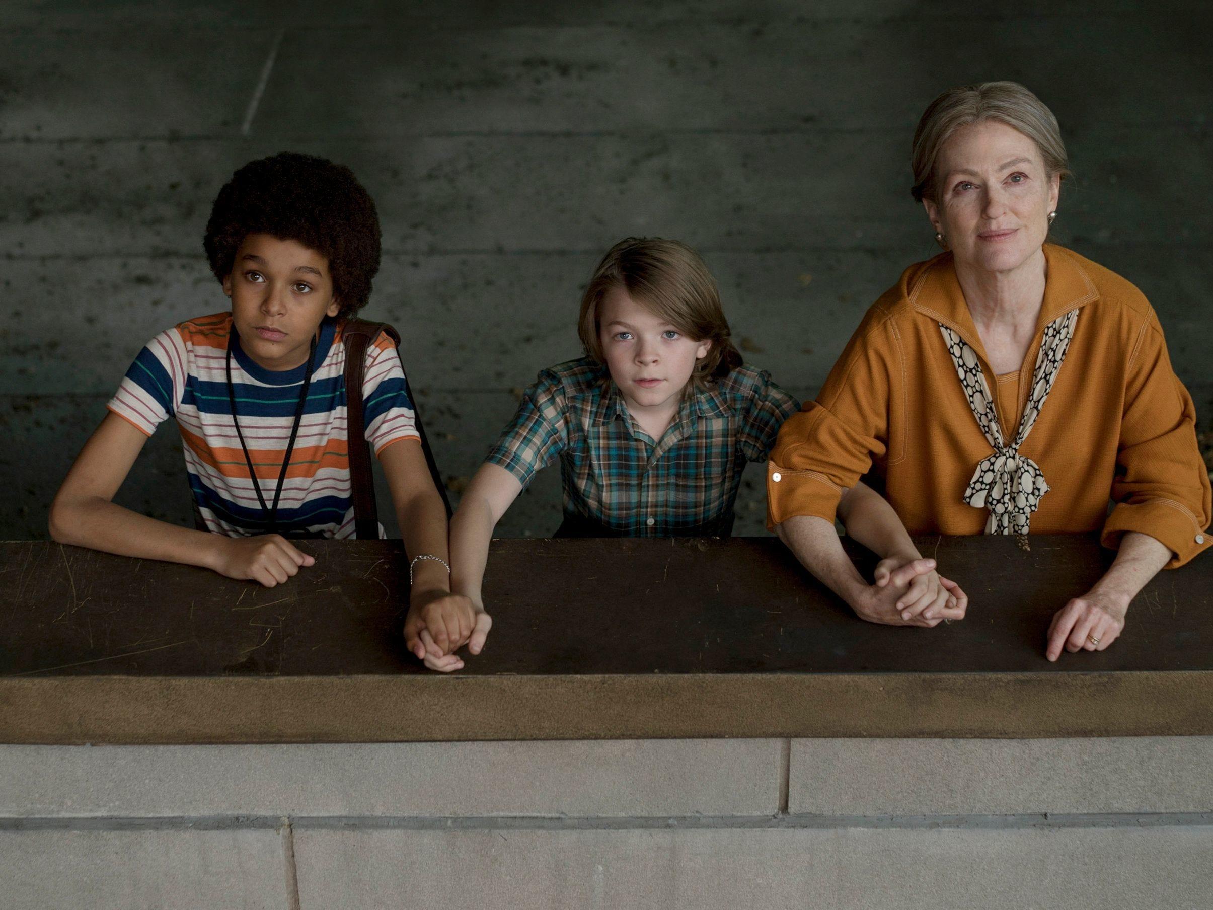 "Jamie (Jaden Michael, from left), Ben (Oakes Fegley) and a grown Rose (Julianne Moore) are unlikely friends in ""Wonderstruck."""