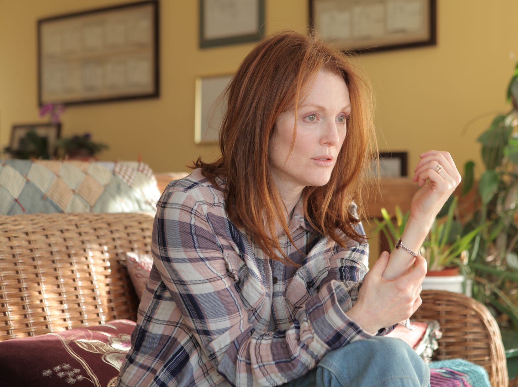 """Julianne Moore received her fifth Oscar nomination for her portrayal of a linguistics professor diagnosed with Alzheimer's in """"Still Alice."""""""