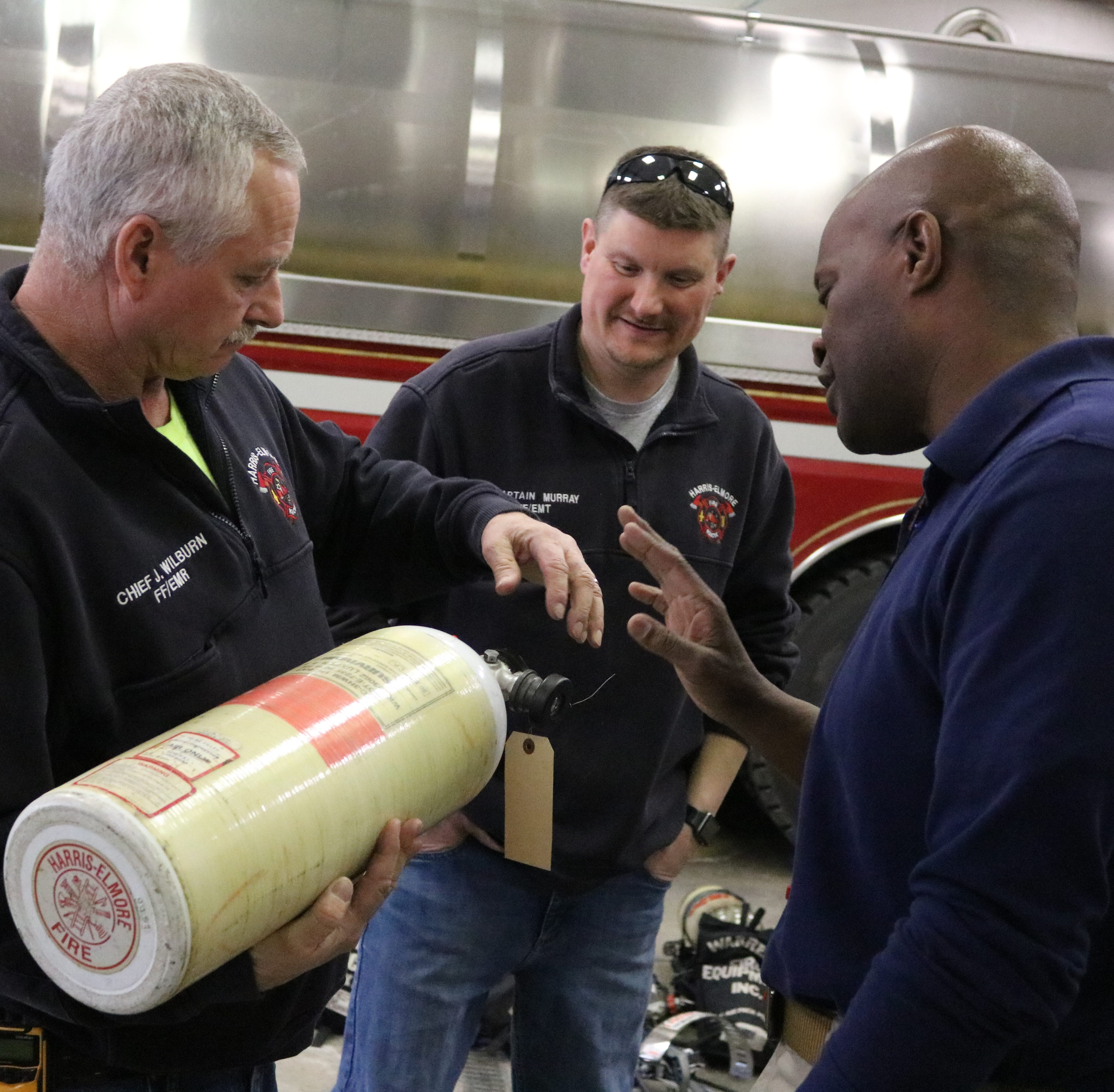 Harris-Elmore Fire Department donates old equipment to countries in need