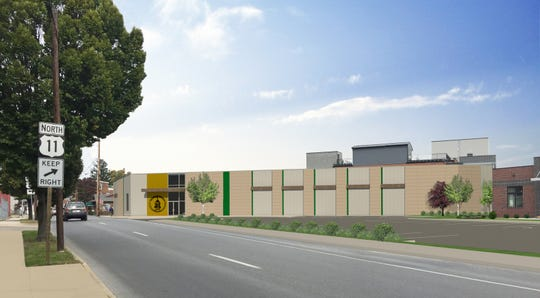A rendering of the future Franklin County archives building, 340 N. Second St. The building, formerly the site of Jennings car dealership, is the temporary home of the Franklin County commissioners' offices.