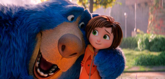 """June, voiced by Sofia Mali, right, and Boomer, voiced by Ken Hudson Campbell, are shown in a scene from  """"Wonder Park."""" The movie is playing at Regal West Manchester Stadium 13 and R/C Hanover Movies."""