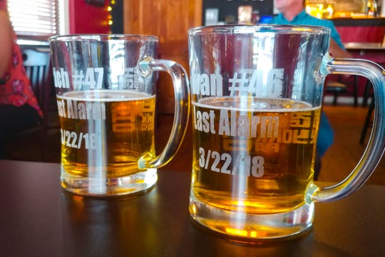 On the 22nd of every month, York City firefighters gather at the Liquid Hero brew pub to toast their fallen brothers. Two mugs dedicated to Ivan Flanscha and Zach Anthony are filled in their memory each time.