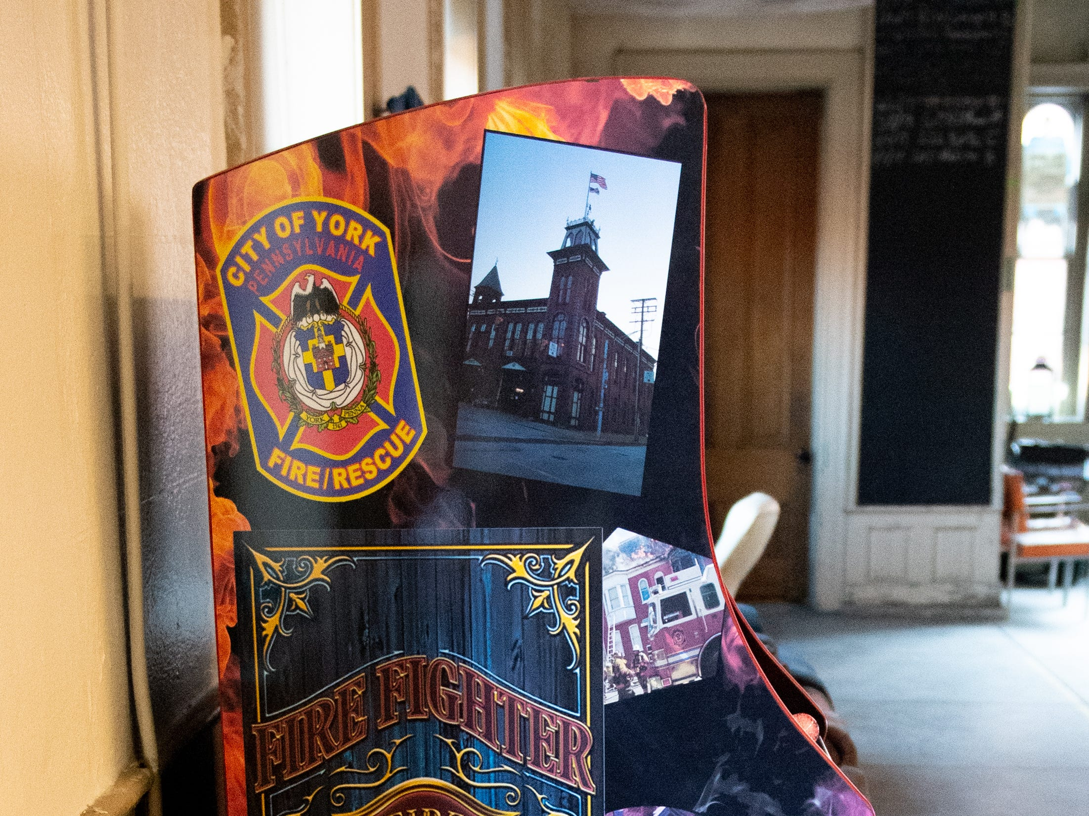 "The custom made arcade game gets a lot of use, according to firefighter Don ""Newc"" Newcomer, March 12, 2019."