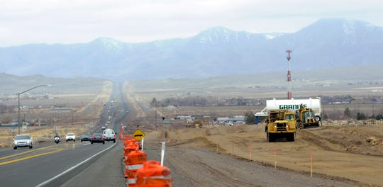 A project to widen Highway 50 from two to four lanes from Carson City to Silver Springs will be completed by 2020.