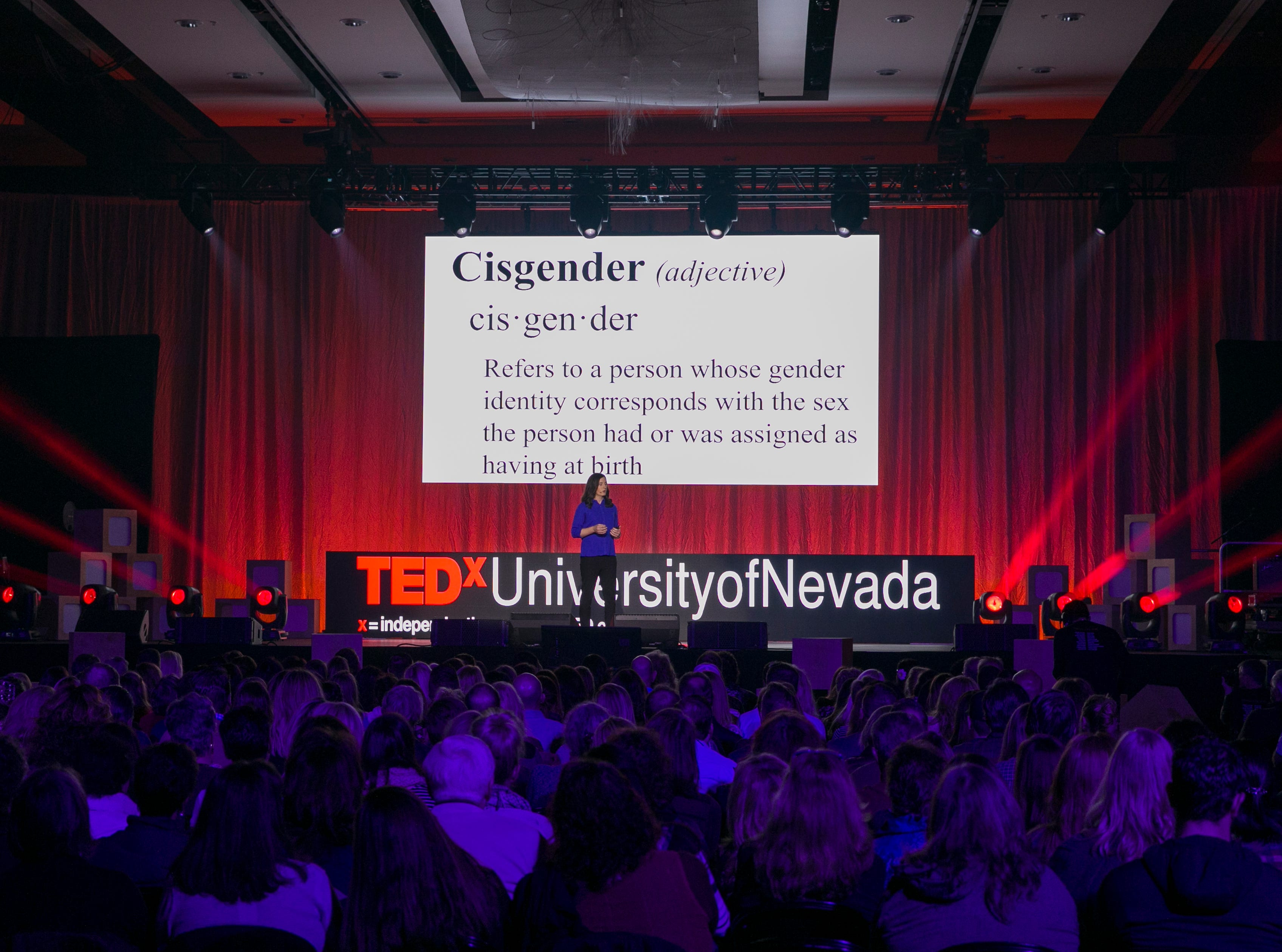 Jenna Weiner speaks during TEDx University of Nevada 2019 at the Reno-Sparks Convention Center on Saturday, Feb. 23, 2019.