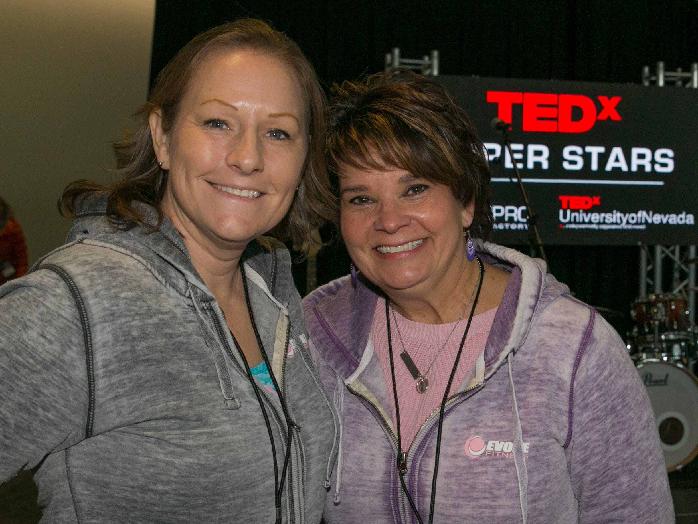Jamie Jost and Lois Welch during TEDx University of Nevada 2019 at the Reno-Sparks Convention Center on Saturday, Feb. 23, 2019.