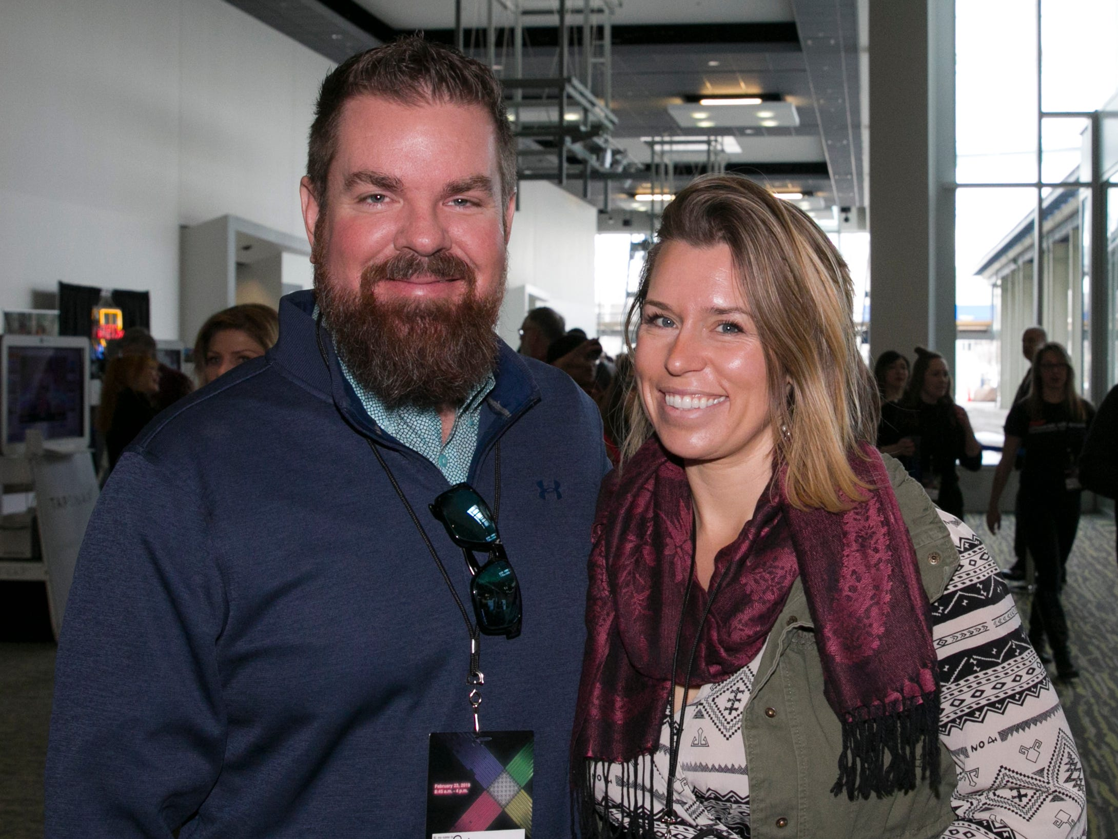 Seth Alexander and Helena Class during TEDx University of Nevada 2019 at the Reno-Sparks Convention Center on Saturday, Feb. 23, 2019.