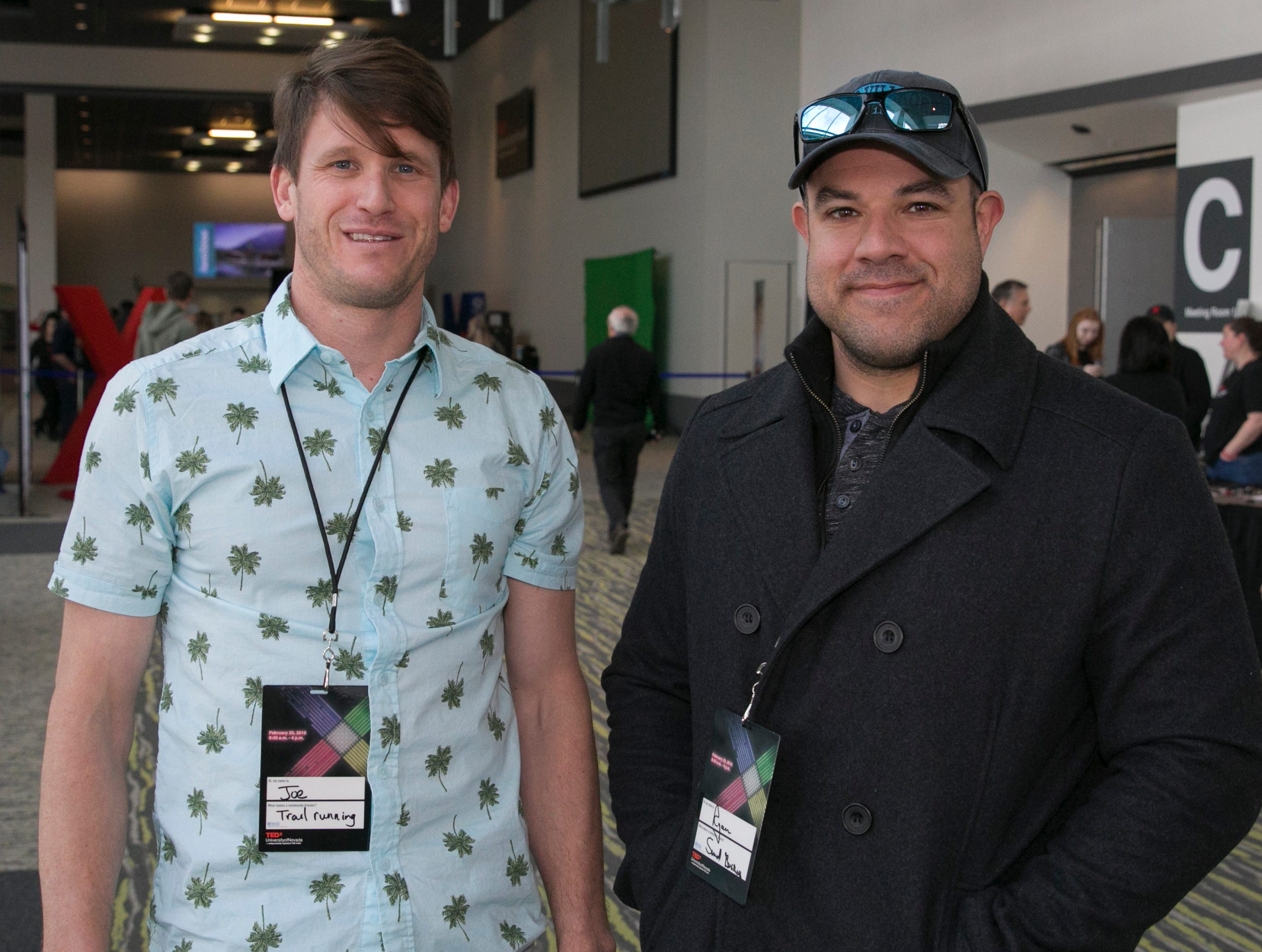 Joe Toth and Ryan Osborn during TEDx University of Nevada 2019 at the Reno-Sparks Convention Center on Saturday, Feb. 23, 2019.