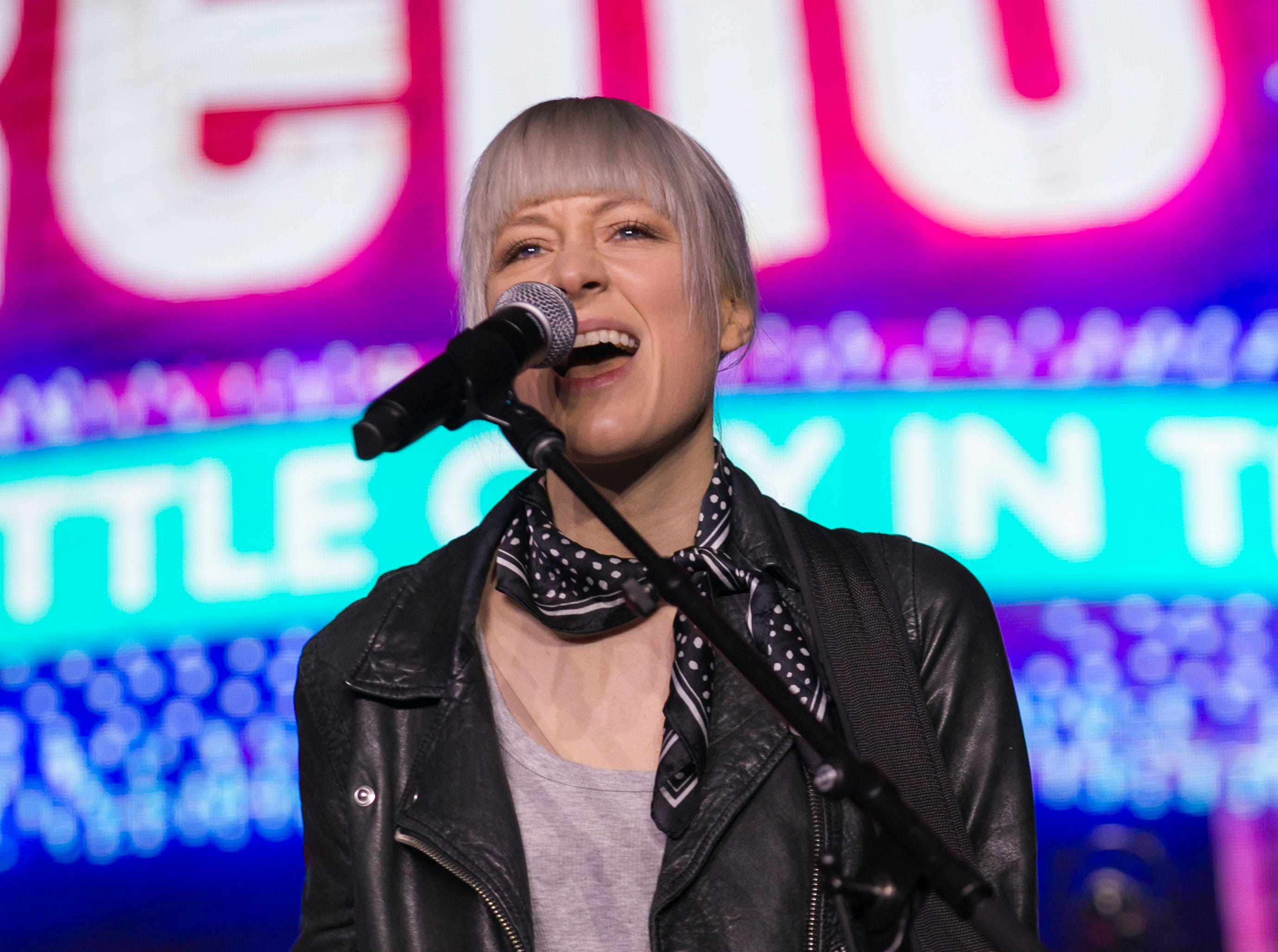 Larkin Poe performs during TEDx University of Nevada 2019 at the Reno-Sparks Convention Center on Saturday, Feb. 23, 2019.