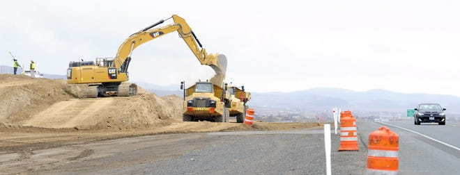 Earthwork is well underway on the Highway 50 expansion project.