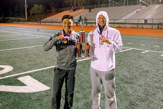 Vicente Jordan Vanderlipe (left) has already cemented his status as one of the best pole vaulters in Salinas history. This season, he could potentially surpass the county record in the event.