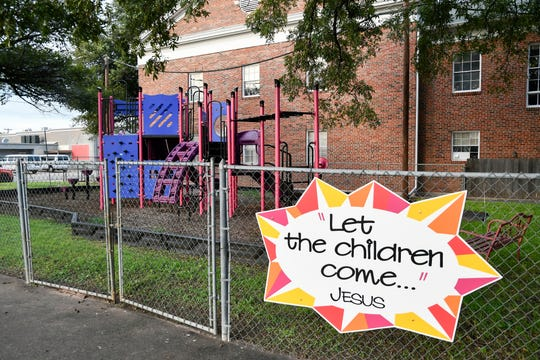The playground at First Christian Church of San Angelo, 29 N. Oakes St, offers a shady refuge for children and parents during hot summers in West Texas.