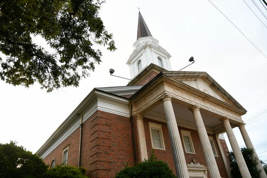 First Christian Church, 29 N. Oakes St, was dedicated in 1955, and the congregation has been active in downtown San Angelo since 1882.