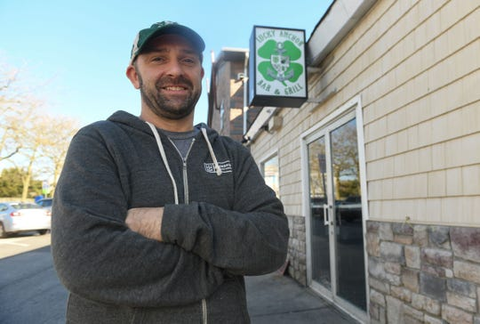 Lucky Anchor Bar & Grill, Co-Owner, Shaun O'Donnell stands outside of the new Bar & Grill located at 501 S. Baltimore Ave in Ocean City, Md.
