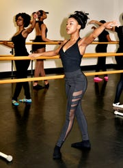Orchesis Dance Company from Grambling State University rehearses for the Dance His High Praise 12 event.