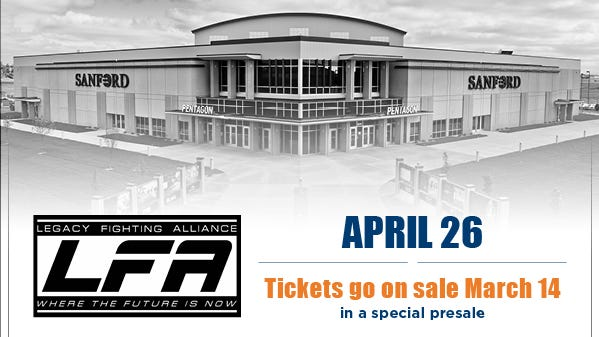 Special pre-sale for MMA action