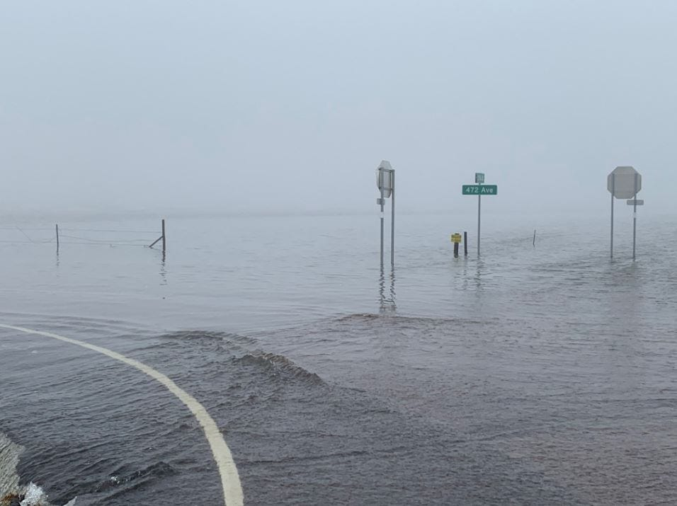 Flooding south of Sioux Falls.