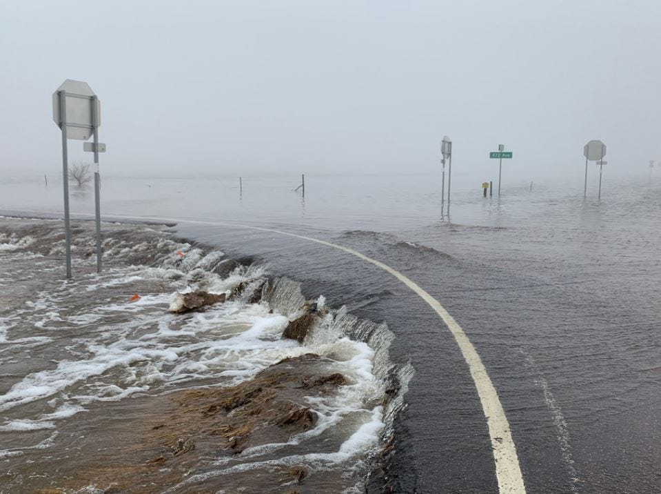 Flooding south of Sioux Falls
