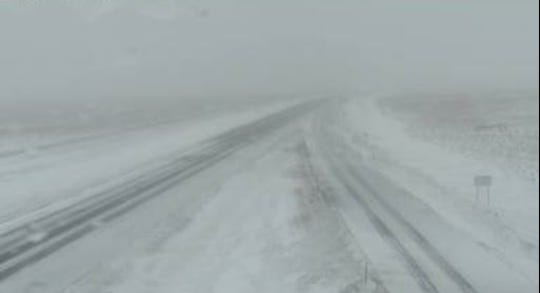 Conditions on I-90 near the Vivian rest area.