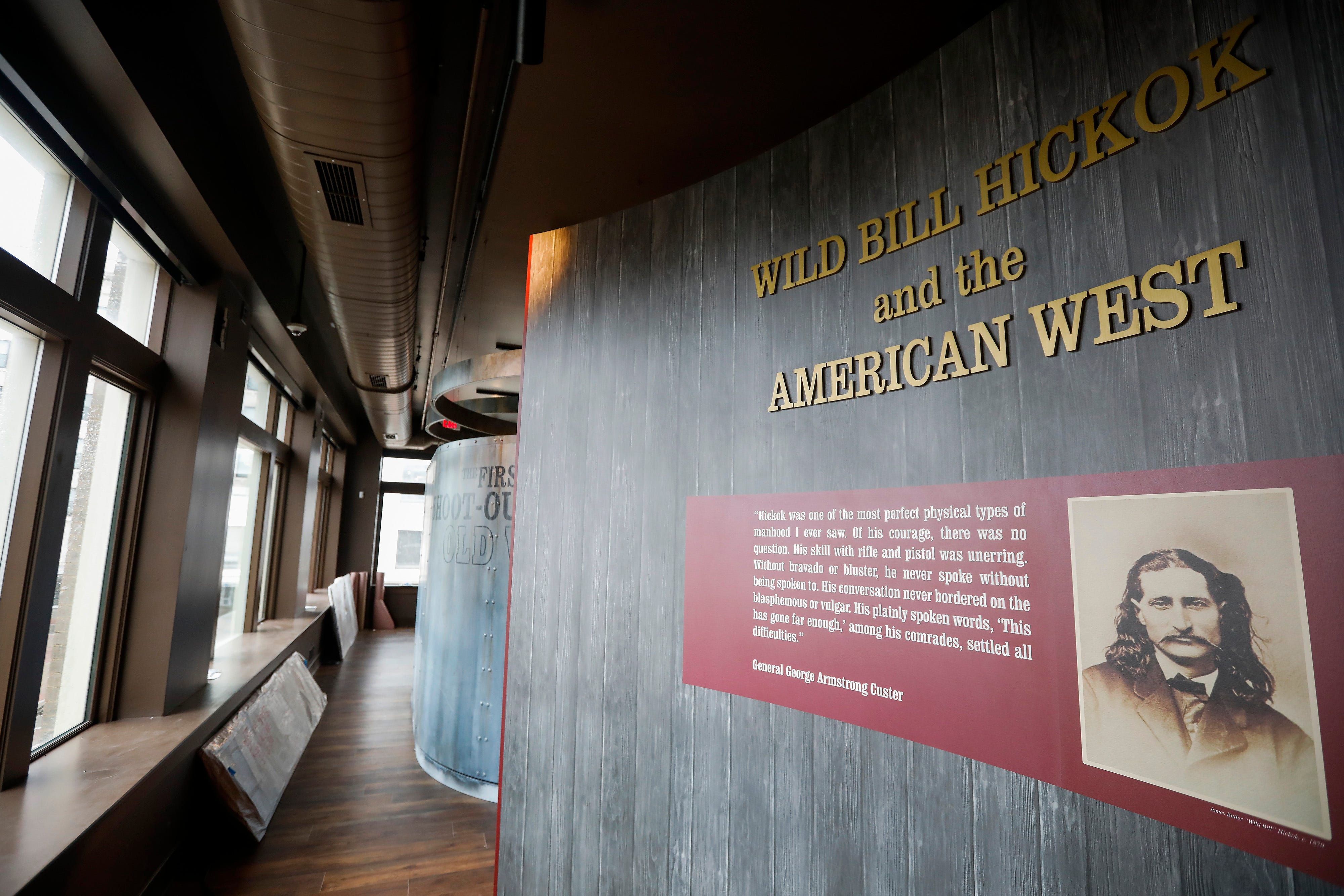 The entrance to the section dedicated to Wild Bill Hickok and the American West at the expanded History Museum on the Square.