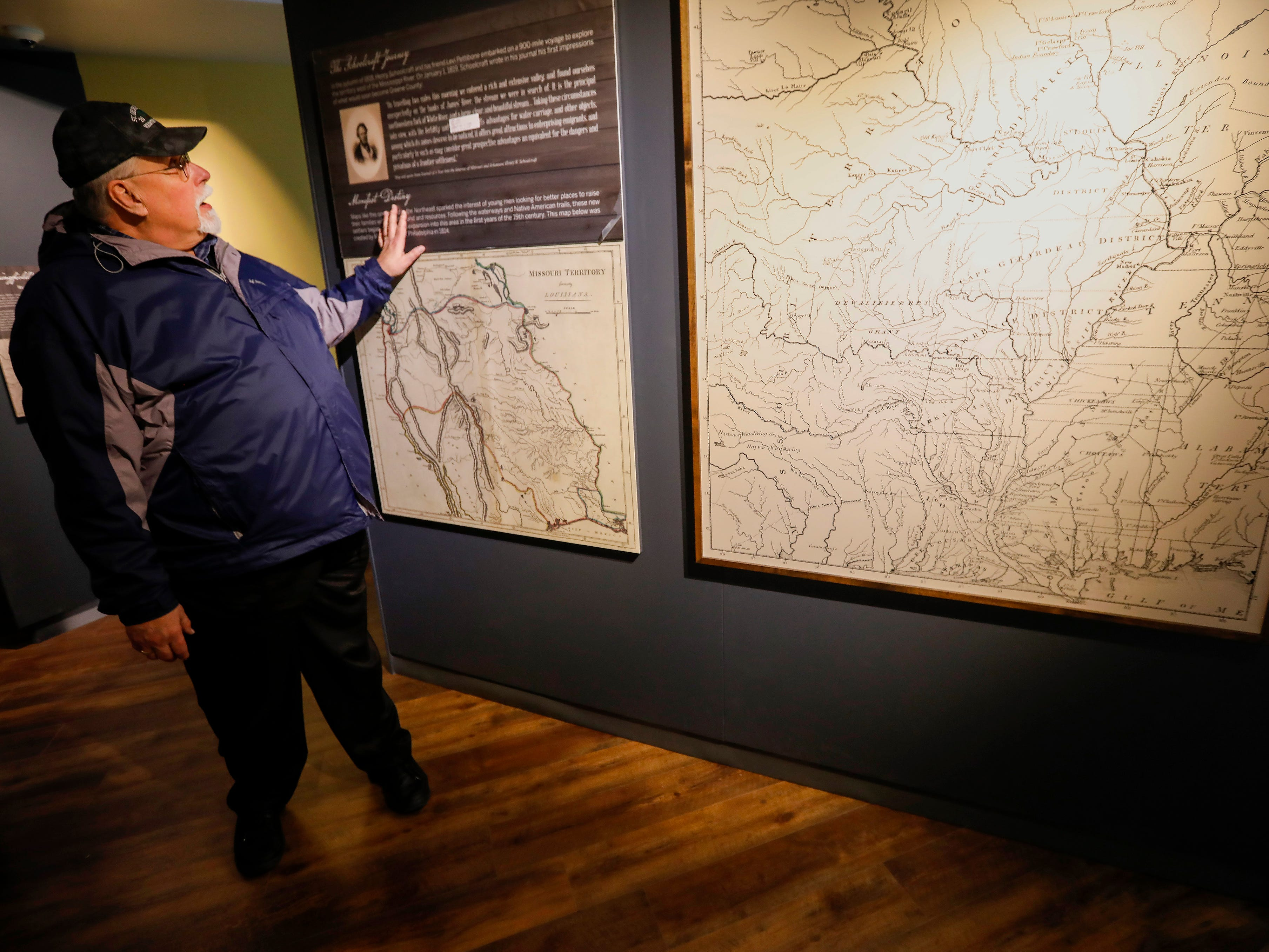 John Sellars, director of the History Museum on the Square, describes an exhibit about Henry Schoolcraft at the museum's expanded location.