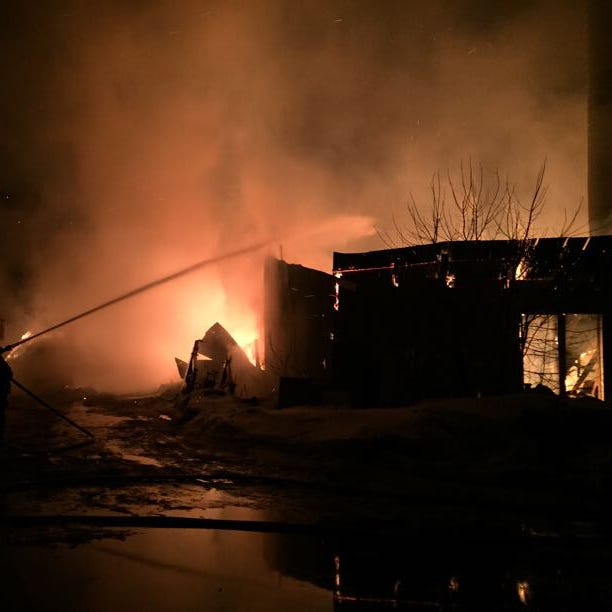 Holdingford barn complete loss in early morning fire