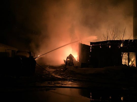 A barn caught fire early Wednesday morning at 41828 County Road 3, near Holdingford, according to a news release.