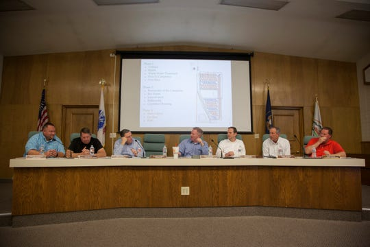 The Washington County planning commission discusses the approval of a conditional use permit allowing the building of a Veyo recreation area Tuesday, March 12, 2019.