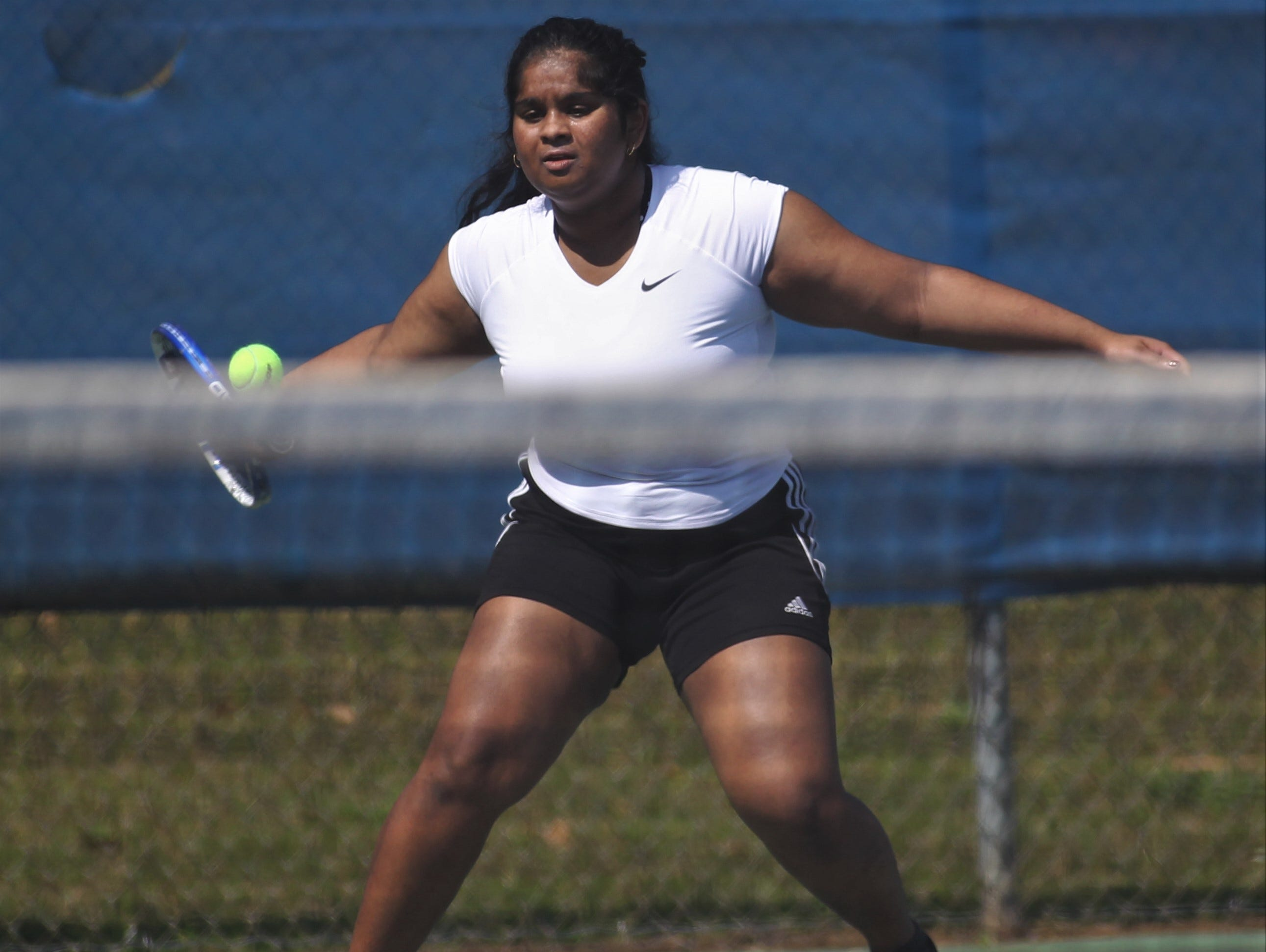 Florida High plays during the boys and girls tennis 2019 City Tournament at Tom Brown Park on March 12, 2019.