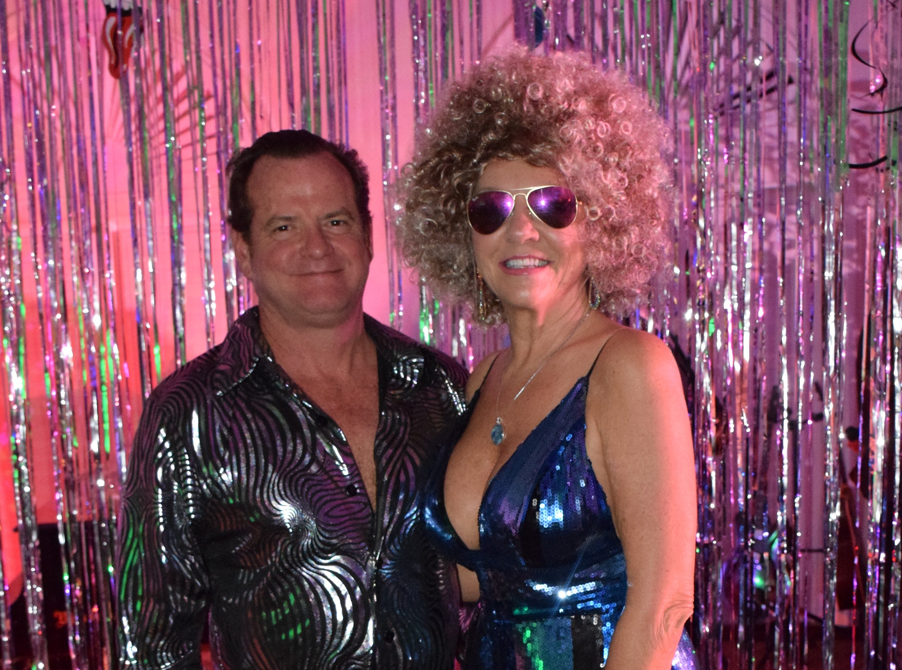 Tim Girard and winner of the dress up competition Jackie Savell