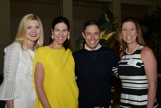 Amanda Johnson, left, Eilis Powers, Jonathan Adler and Tara Layne at Vero Beach Museum of Art's second annual Fashion Meets Art event. Adler, an  American potter, designer and author, took center stage in the museum's Holmes Great Hall, where he shared his love for fresh design and all things colorful and modern.