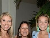 Rachel Clark, left, Shelley Colontrelle and Tiffany Corr at Vero Beach Museum of Art's second annual Fashion Meets Art event.