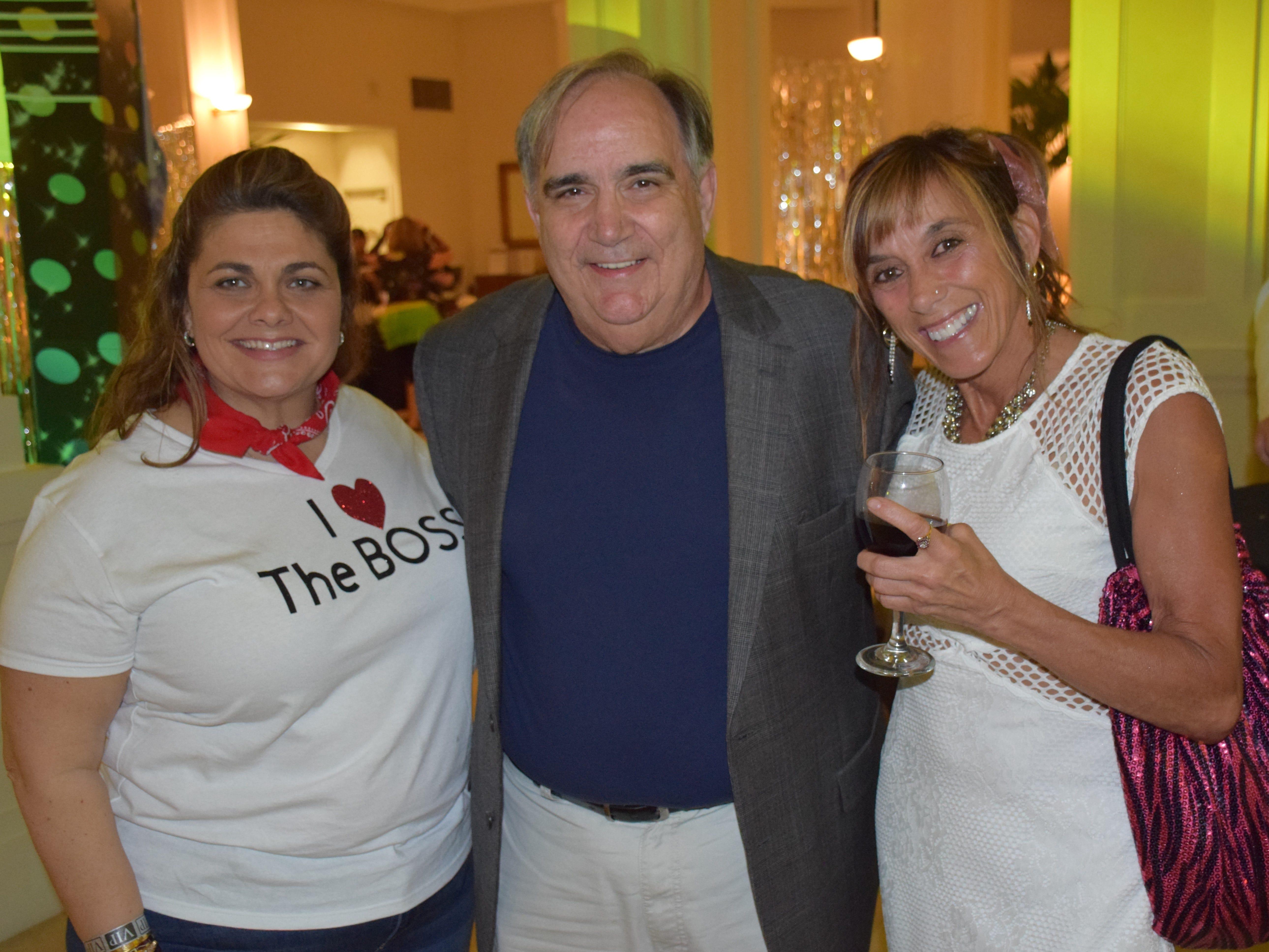 Elaine Coppola, Dr.  Bob Brugnoli and Patty Oliver