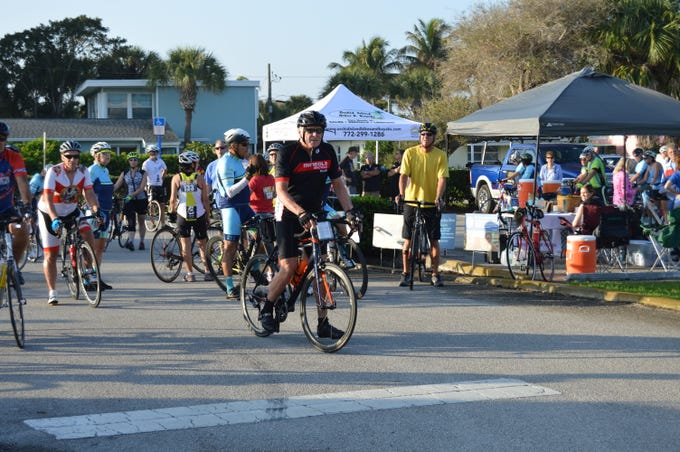 Cyclists helped ride poverty out of town during an inaugural United Against Poverty A1A Centennial Challenge cycling tour along the Indian River Lagoon National Scenic Byway.