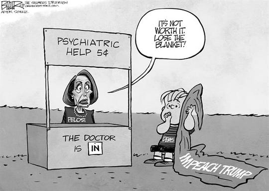 Cartoon: Pelosi and impeachment