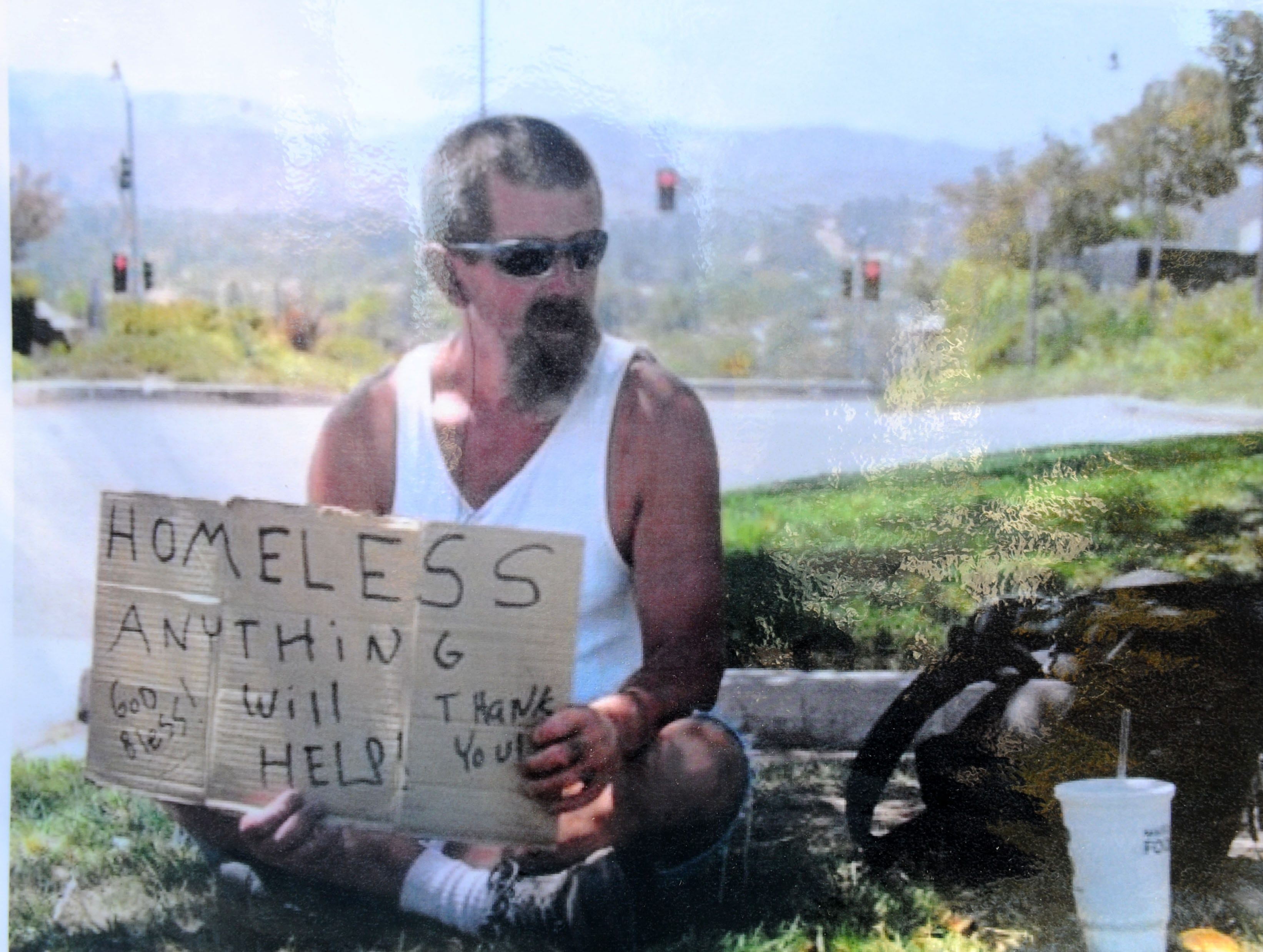 The Simi Valley Samaritan Center on Wednesday held a memorial service for Gerald Munyon, who was run over while sleeping in an alley in February. Munyon had been homeless for about 12 years.