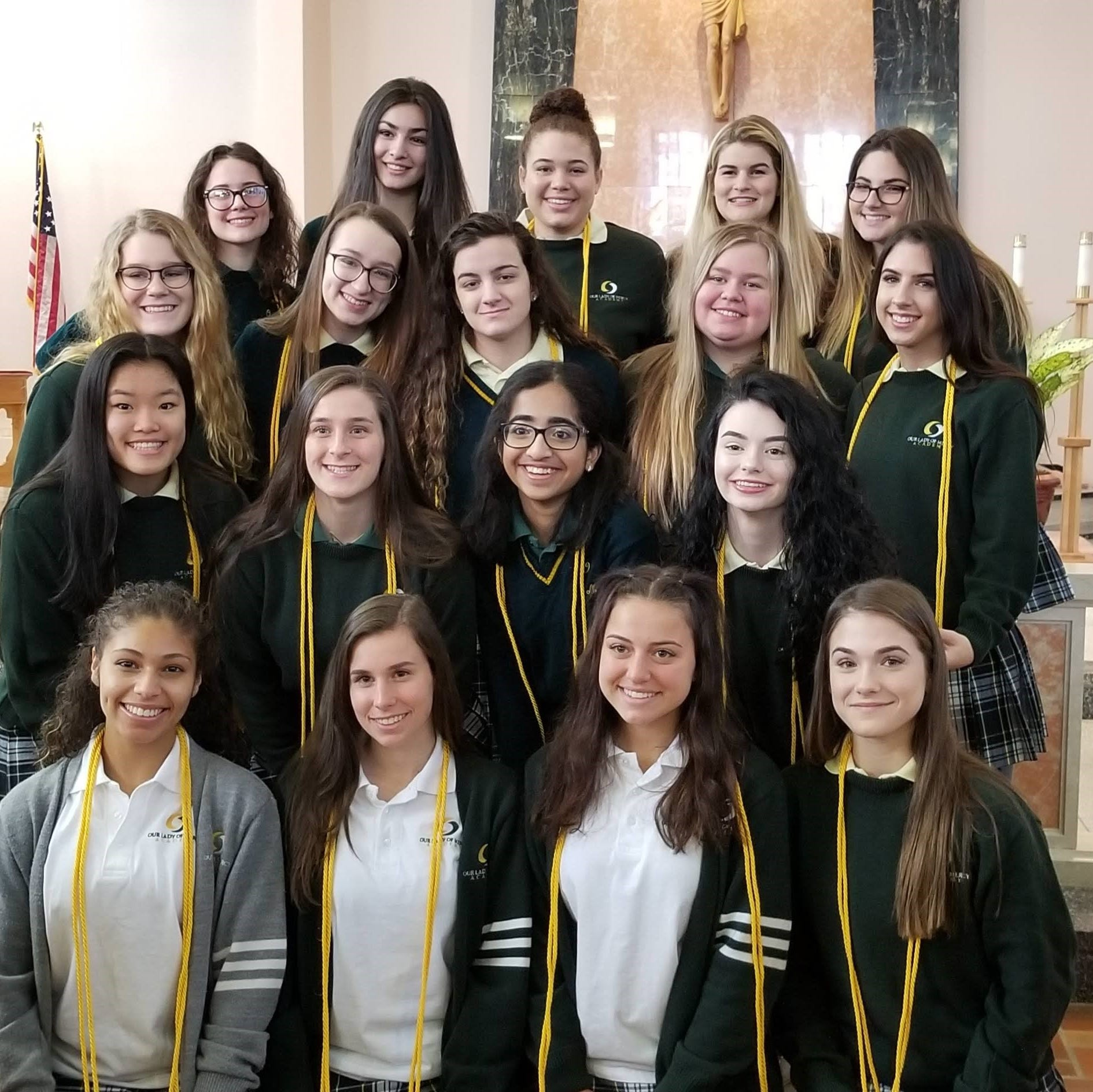 Our Lady of Mercy Academy holds National Honor Society induction ceremony