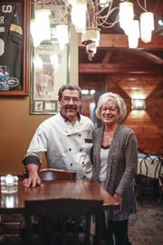 Steve Allen and his wife Joan, pose for a photo at Pinewood Supper Club in Mosinee.