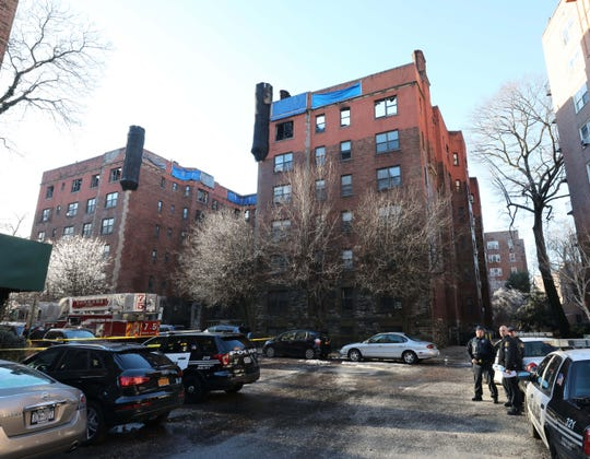 The exterior of 15 Parkview Avenue in Yonkers, March 13, 2019, the day after the general alarm fire fought by Yonkers firefighters and mutual aid companies.