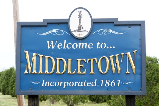 Town of Middletown sign.