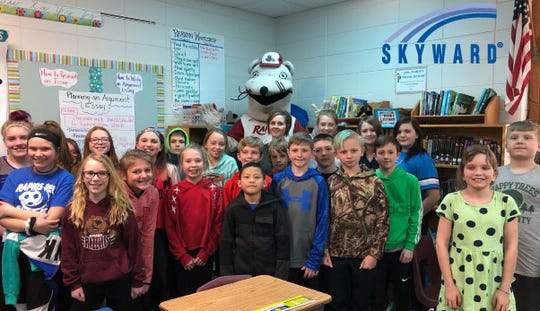 Rebecca Sturdy, a fifth-grade teacher at Grant Elementary School, was named 2019 Skyward Central Wisconsin Teacher of the Year on Feb. 26 in her classroom.
