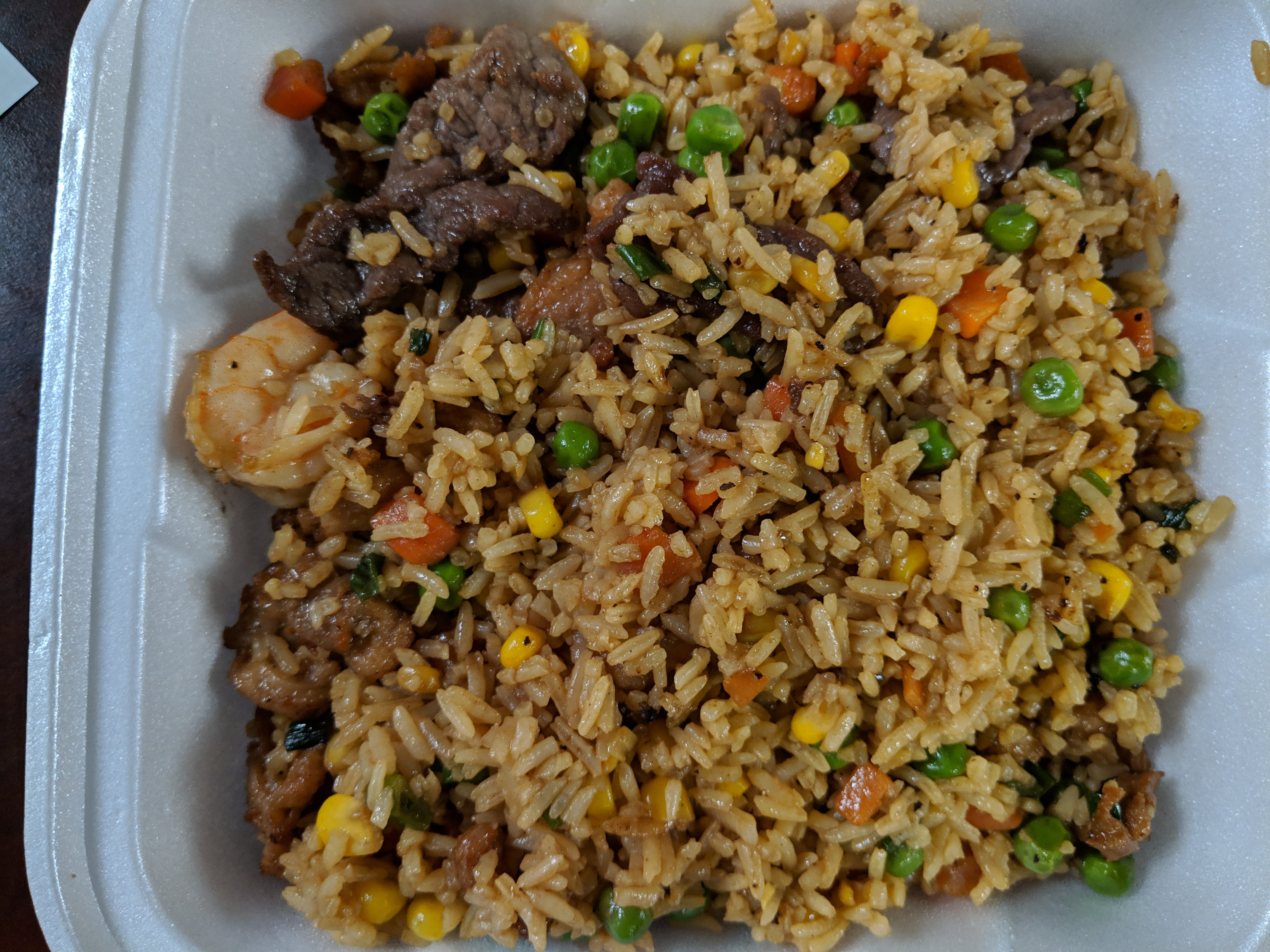 Combonation fried rice from Tommy's Donut.