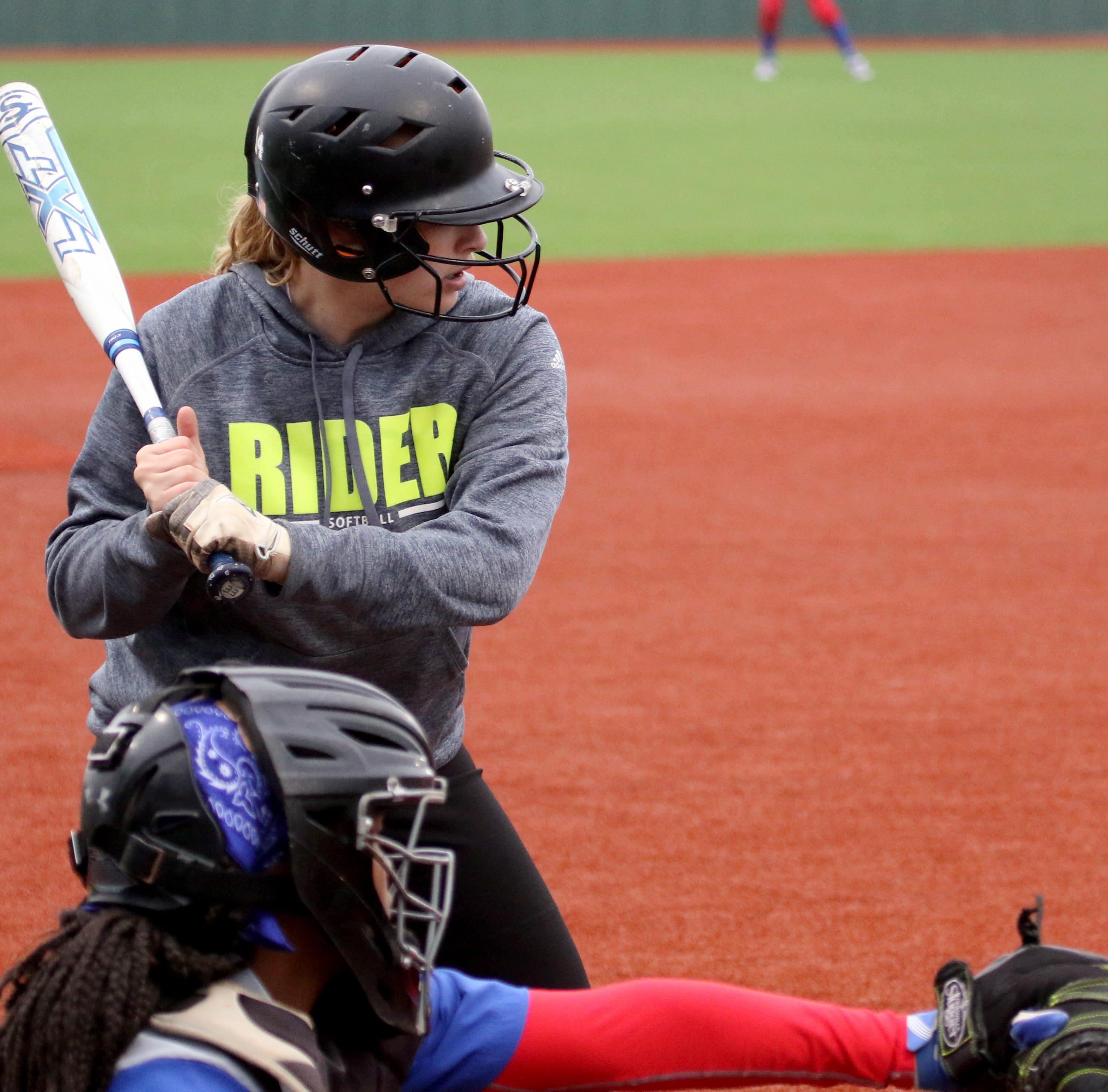 Softball roundup: Rider clinches playoff spot; 8-3A, 8-2A titles shared