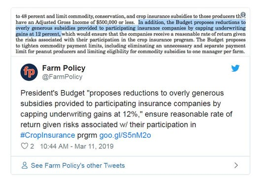 Farm Policy weighed in on Trump's budget.